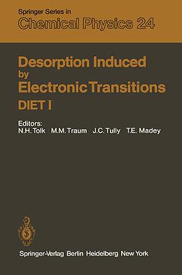 Kartonierter Einband Desorption Induced by Electronic Transitions DIET I von