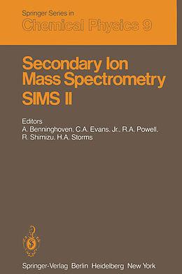 Kartonierter Einband Secondary Ion Mass Spectrometry SIMS II von