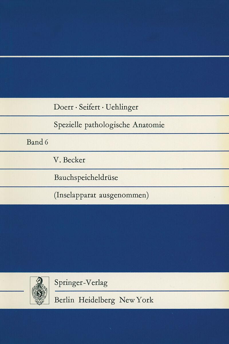Bauchspeicheldrüse - V. Becker - Buch kaufen   exlibris.ch