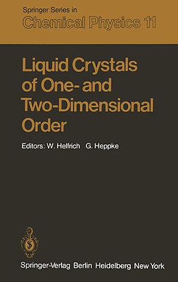 Kartonierter Einband Liquid Crystals of One- and Two-Dimensional Order von