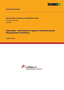 Elektrolyse - Hofmannscher Apparat: Ausarbeitung des Physikalischen Praktikums [Versione tedesca]