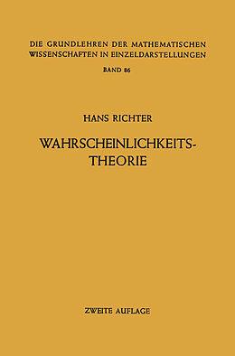 Kartonierter Einband Wahrscheinlichkeitstheorie von Hans Richter