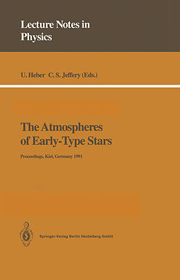Kartonierter Einband The Atmospheres of Early-Type Stars von