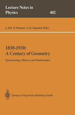 Kartonierter Einband 1830-1930: A Century of Geometry von