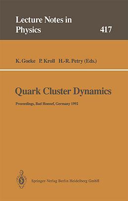 Kartonierter Einband Quark Cluster Dynamics von