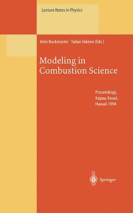 Kartonierter Einband Modeling in Combustion Science von