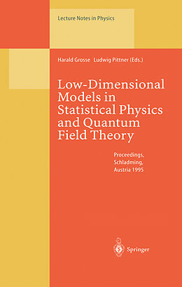 Kartonierter Einband Low-Dimensional Models in Statistical Physics and Quantum Field Theory von