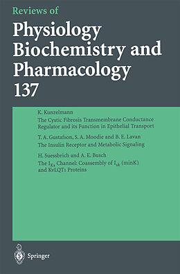 Kartonierter Einband Reviews of Physiology, Biochemistry and Pharmacology von M. P. Blaustein, W. J. Lederer, R. Greger