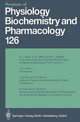 Kartonierter Einband Reviews of Physiology, Biochemistry and Pharmacology von M. P. Blaustein, H. Reuter, H. Grunicke