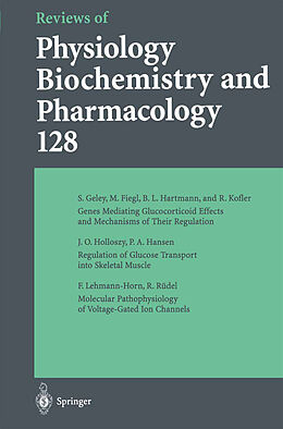 Kartonierter Einband Reviews of Physiology, Biochemistry and Pharmacology von