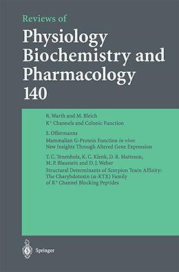 Kartonierter Einband Reviews of Physiology, Biochemistry and Pharmacology von M. P. Blaustein, L. M. Mendell, R. Greger