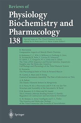 Kartonierter Einband Reviews of Physiology, Biochemistry and Pharmacology von D. Fürst, G. Schultz, W. J. Lederer
