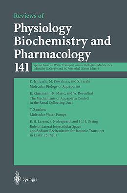 Kartonierter Einband Special Issue on Water Transport Across Biological Membranes von
