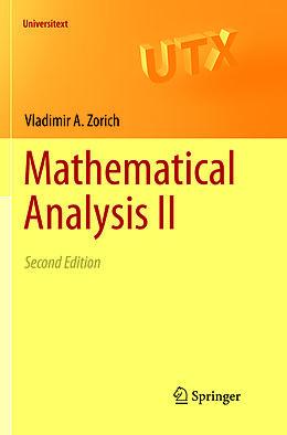 Kartonierter Einband Mathematical Analysis II von V. A. Zorich