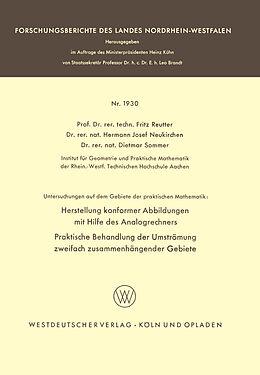 Kartonierter Einband Untersuchungen auf dem Gebiete der praktischen Mathematik von Fritz Reutter, Hermann Josef Neukirchen, Dietmar Sommer