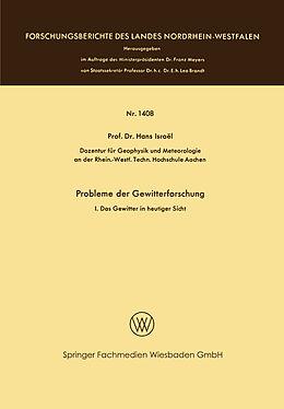 Kartonierter Einband Probleme der Gewitterforschung von Hans Israël