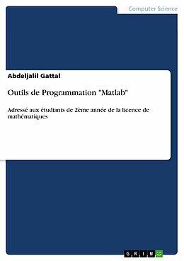 "eBook (pdf) Outils de Programmation ""Matlab"" de Abdeljalil Gattal"