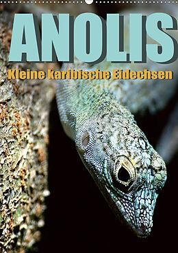 Kalender Anolis - Kleine karibische Eidechsen (Wandkalender 2021 DIN A2 hoch) von Jürgen Warschun