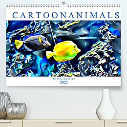 Kalender (Kal) Cartoonanimals (Premium, hochwertiger DIN A2 Wandkalender 2022, Kunstdruck in Hochglanz) von Nicole Kersten