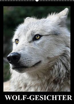 Kalender Wolf-Gesichter (Wandkalender 2022 DIN A2 hoch) von Elisabeth Stanzer