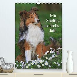 Kalender Mit Shelties durchs Jahr (Premium, hochwertiger DIN A2 Wandkalender 2022, Kunstdruck in Hochglanz) von Marion Reiß - Seibert