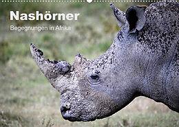 Kalender Nashörner - Begegnungen in Afrika (Wandkalender 2022 DIN A2 quer) von Michael Herzog