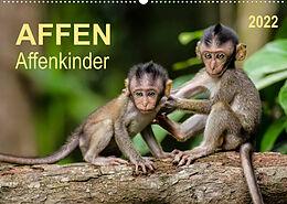 Kalender Affen - Affenkinder (Wandkalender 2022 DIN A2 quer) von Peter Roder