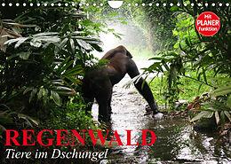 Kalender (Kal) Regenwald. Tiere im Dschungel (Wandkalender 2022 DIN A4 quer) von Elisabeth Stanzer