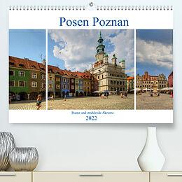 Kalender Posen Poznan - Bunte und strahlende Akzente (Premium, hochwertiger DIN A2 Wandkalender 2022, Kunstdruck in Hochglanz) von Paul Michalzik