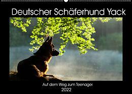 Kalender Deutscher Schäferhund Yack  Auf dem Weg zum Teenager (Wandkalender 2022 DIN A2 quer) von Petra Schiller