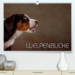 Kalender Welpenblicke (Premium, hochwertiger DIN A2 Wandkalender 2022, Kunstdruck in Hochglanz) von Jana Behr