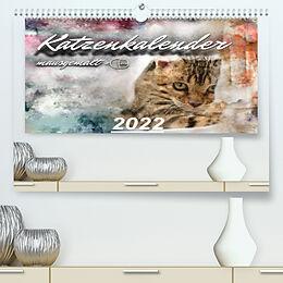 Kalender Katzenkalender mausgemalt (Premium, hochwertiger DIN A2 Wandkalender 2022, Kunstdruck in Hochglanz) von SYLVIO BANKER