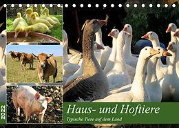 Kalender (Kal) Haus- und Hoftiere (Tischkalender 2022 DIN A5 quer) von Sabine Löwer