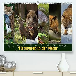 Kalender Tierspuren in der Natur (Premium, hochwertiger DIN A2 Wandkalender 2022, Kunstdruck in Hochglanz) von Johann Schörkhuber