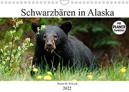 Kalender (Kal) Schwarzbären in Alaska (Wandkalender 2022 DIN A4 quer) von Dieter-M. Wilczek