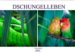 Kalender Dschungelleben - Tierportraits (Wandkalender 2022 DIN A2 quer) von Liselotte Brunner-Klaus