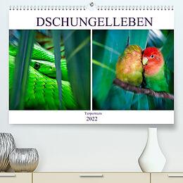 Kalender Dschungelleben - Tierportraits (Premium, hochwertiger DIN A2 Wandkalender 2022, Kunstdruck in Hochglanz) von Liselotte Brunner-Klaus