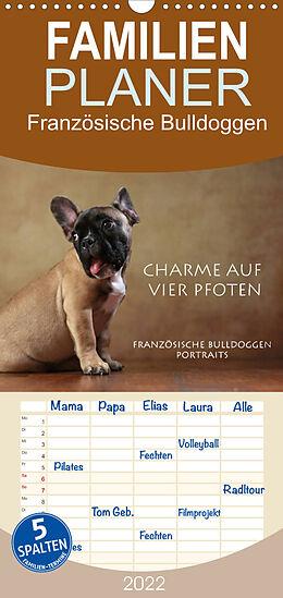 Kalender Charme auf vier Pfoten - Französische Bulldoggen Portraits (Wandkalender 2022 , 21 cm x 45 cm, hoch) von Jana Behr