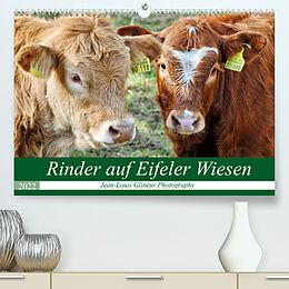 Kalender Rinder auf Eifeler Wiesen (Premium, hochwertiger DIN A2 Wandkalender 2022, Kunstdruck in Hochglanz) von Jean-Louis Glineur