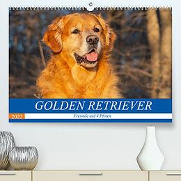 Kalender Golden Retriever - Freunde auf 4 Pfoten (Premium, hochwertiger DIN A2 Wandkalender 2022, Kunstdruck in Hochglanz) von Sigrid Starick