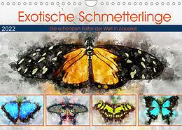 Kalender (Kal) Exotische Schmetterlinge - Die schönsten Falter der Welt in Aquarell (Wandkalender 2022 DIN A4 quer) von Anja Frost