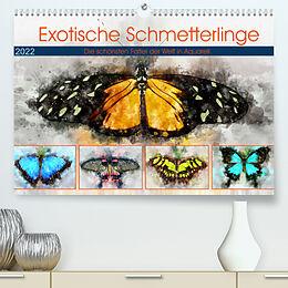 Kalender Exotische Schmetterlinge - Die schönsten Falter der Welt in Aquarell (Premium, hochwertiger DIN A2 Wandkalender 2022, Kunstdruck in Hochglanz) von Anja Frost