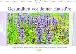 Kalender (Kal) Gesundheit vor deiner Haustüre - Heilpflanzen am Alpenrand - Wirkung, Anwendungsbereiche und Teezubereitung (Wandkalender 2022 DIN A4 quer) von Michaela Schimmack