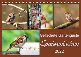 Kalender (Kal) Gefiederte Gartengäste - Spatzenleben (Tischkalender 2022 DIN A5 quer) von Sabine Löwer