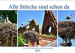 Kalender Alle Störche sind schon da - (Wandkalender 2022 DIN A2 quer) von Henning von Löwis of Menar