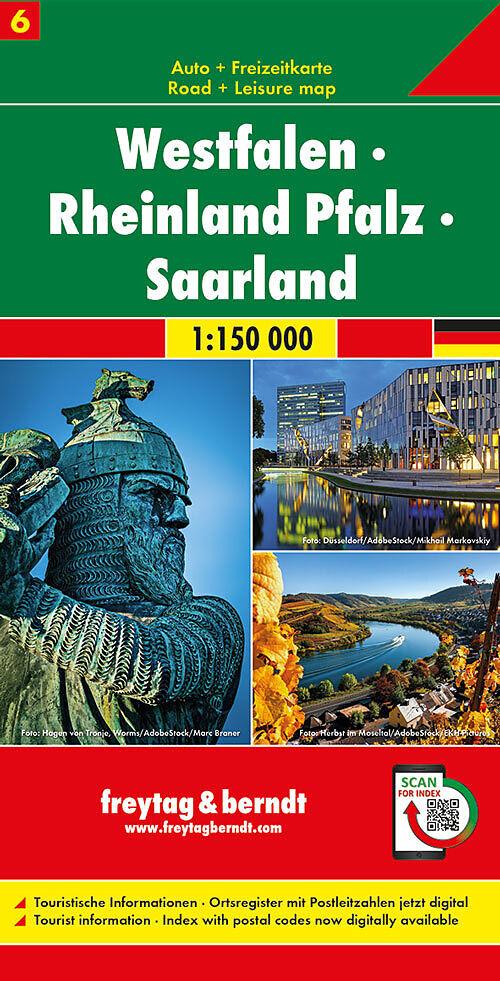 Westfalen Rheinland Pfalz Saarland Autokarte 1 150 000 Blatt 6 150000 Buch Kaufen Ex Libris
