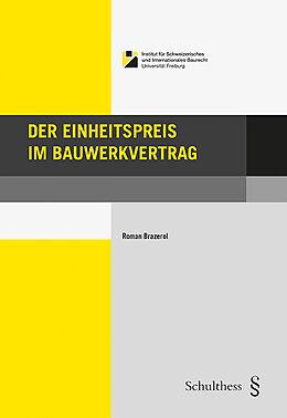 Paperback Der Einheitspreis im Bauwerkvertrag von Roman Brazerol