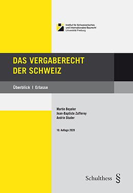 Fester Einband Das Vergaberecht der Schweiz von
