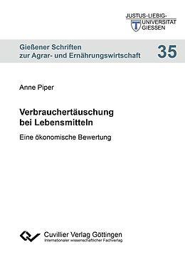 E-Book (pdf) Verbrauchertäuschung bei Lebensmitteln von Anne Piper