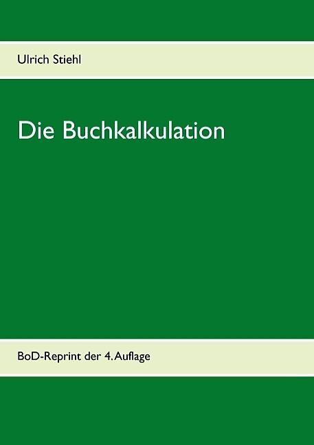 Die Buchkalkulation